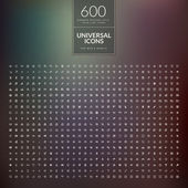 Set of 600 universal modern thin line icons for web and mobile — Stock vektor