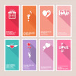 Set of Valentines day greeting cards — Stock Vector #38236455
