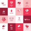 Set of love and romantic icons for Valentines day — Stock Vector