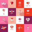 Set of Valentines day icons — Vecteur