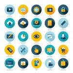 Set of flat design icons for Web design development, SEO and Internet marketing — Stock Vector #40628147