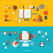 Flat design vector illustration concepts of education and online learning — ストックベクタ