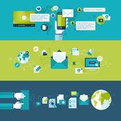 Ensemble de design plat vector illustration concepts pour l'email — Vecteur