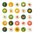 Set of flat design icons for food and drink. — Stock Vector