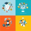 Set of flat design concept icons for education — Stock Vector #45415387