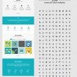 One page website design template — Stock Vector #46624017