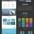 One page website design template — Wektor stockowy  #46624075
