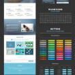 One page website design template — 图库矢量图片 #46624075