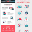 One page website design template — Stockvektor  #46624207