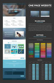 One page website design template — Vecteur