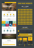 One page website design template — Stockvector