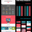 One page website design template — Stock Vector #46940863