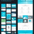 One page website design template — Stock Vector #46940879