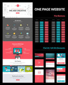 One page website design template — ストックベクタ