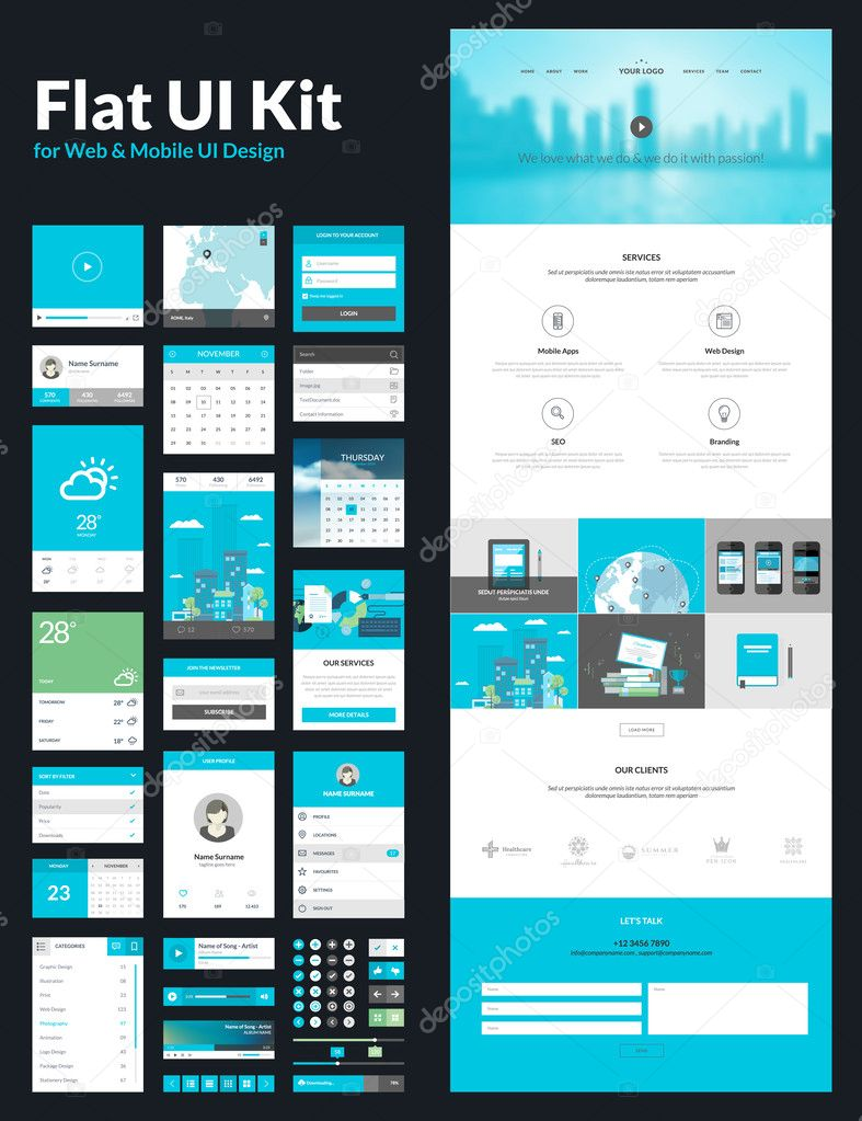 download one page website design template stock illustration