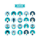 Набор плоских иконок дизайн аватары для медицины — Cтоковый вектор