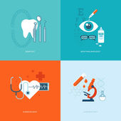 Flat design medical concept icons — Vector de stock