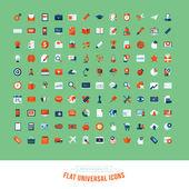 Set of flat design universal icons — Stock Vector
