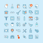 Set of flat design icons for medicine and health care — Wektor stockowy