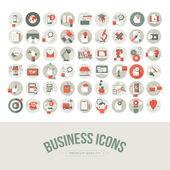 Ensemble de affaires des icônes du design plat — Vecteur