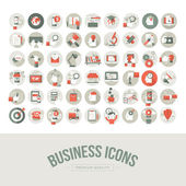 Set of flat design business icons — Vector de stock