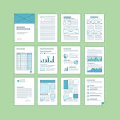Set of business A4 documentation templates — Stock Vector