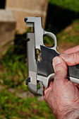 Jammed pistol — Stock Photo
