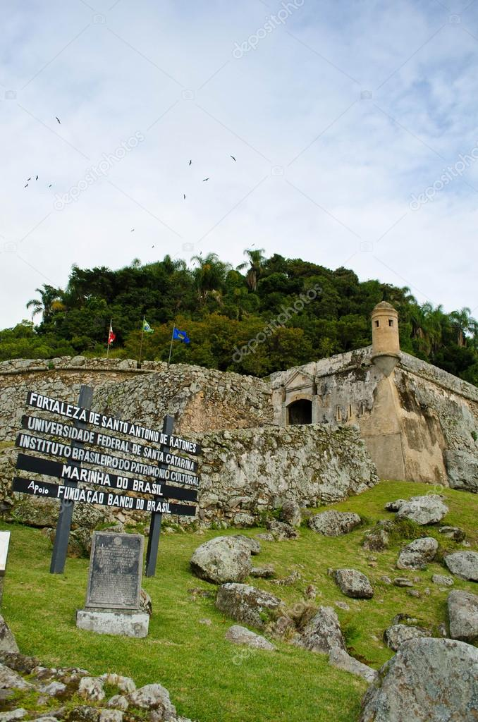 Fortress of Santo Antonio de Ratones in Florianópolis, Brasil — Stock Photo #12482303