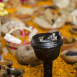 Part of a mexican day of the dead offering altar - Stock Photo