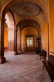 Arcos en el Museo Regional de Querétaro — Zdjęcie stockowe