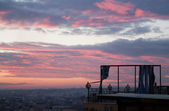 Gently pink sunset in Istanbul — Stock Photo