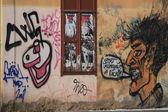 在布拉格街头涂鸦 — 图库照片