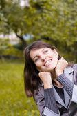 Portrait woman outdoors — Stock Photo