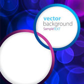 Abstract background blue bokeh circles — Stock Vector