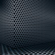 Background of circle mesh pattern texture - Векторная иллюстрация
