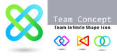 Team Infinite shape icon Consulting Team concept — Stock Vector