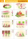 INFOGRAPHIC graph ELEMENT — Stock Vector