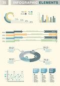 INFOGRAPHIC presentation template graph pie chart element — Stock Vector