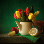 Still-life with tulips — Stock Photo