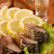 Composition with Smocked Mackerel — Stock Photo