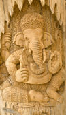 Wood carving of Ganesha — Stock Photo
