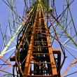 Telecommunication tower structure — Stockfoto