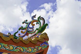 The roof of Chinese temple at Songkhla, Thailand — Stock Photo