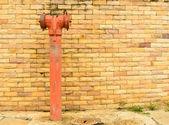 Kırmızı yangın musluğu — Stok fotoğraf