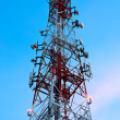 Telecommunications Tower at sunset — Stock Photo
