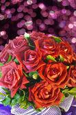 Krásná růže kytice s kapkami — Stock fotografie