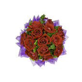 Beautiful red roses bouquet isolated on white background — Stock Photo
