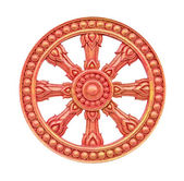 Thai style molding wheel of life isolated on white with working path — Stock Photo