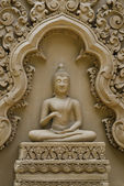 Buda heykeli wat tham duvara pu wa kanchanaburi, tayland — Stok fotoğraf