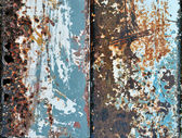 Rusted steel tin abstract pattern — Stock Photo